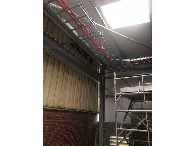 Large cable ladder installation 1