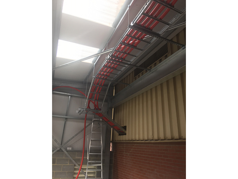 Large cable ladder installation 2