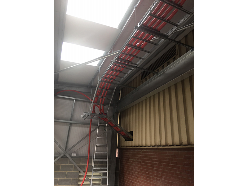 Large cable ladder installation